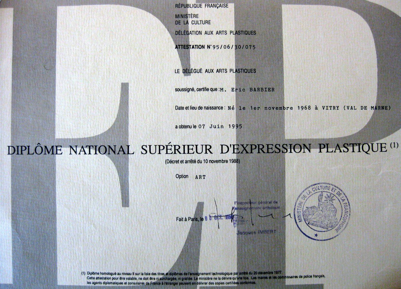 Dipôme National Supérieur d'Expression Plastique